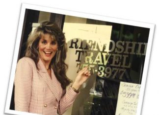 Michelle Fee at the Friendship Travel Agency.