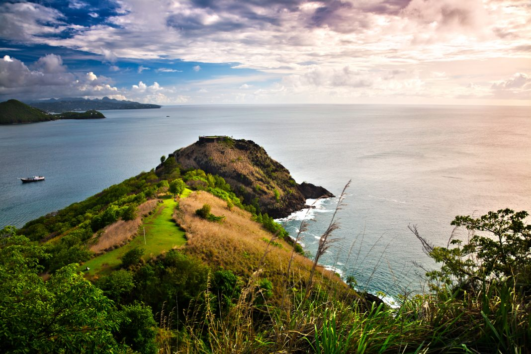 Saint Lucia will add more than 1,000 new rooms to the island's inventory in the next few years. Pigeon Island (pictured).