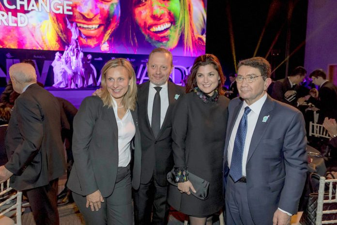 From L to R: Cordula Wohlmuther, UNWTO Head of Institutional Relations and Resource Mobilization / IY2017; Brett Tollman, CEO of The Travel Corporation; Miranda Tollman; and Dr. Taleb Rifai, Secretary General of the UNWTO.