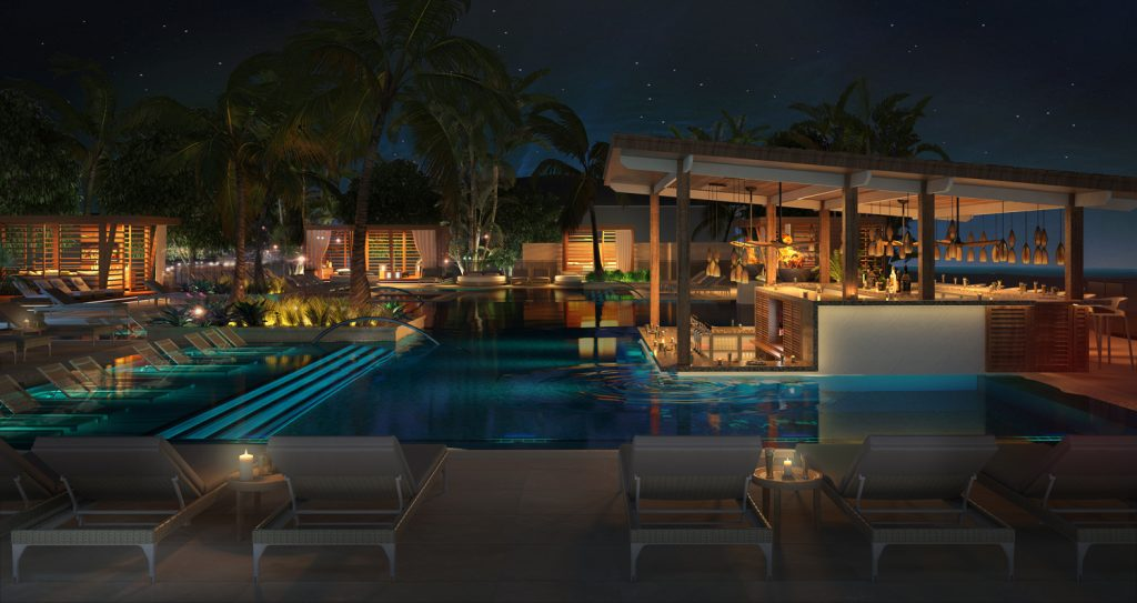 Rendering of La Escondida pool at UNICO 20˚87˚. (Photo Courtesy of UNICO 20˚87˚.)
