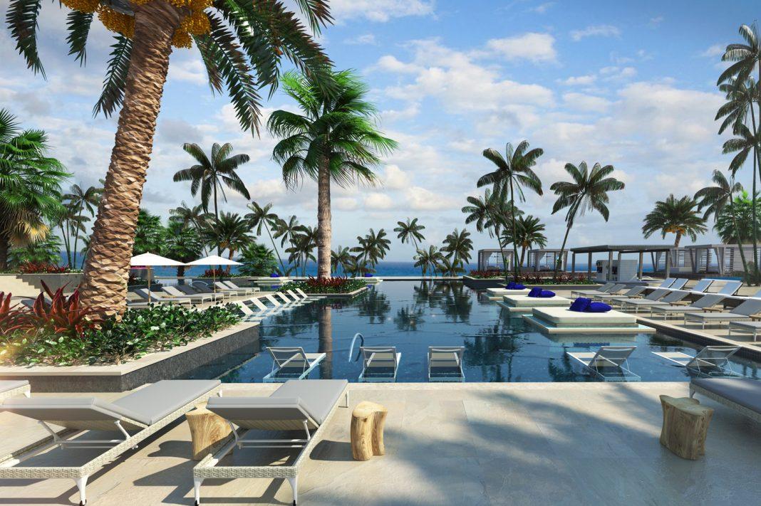 Pool views at UNICO 20˚87˚ Hotel Riviera Maya. (Photo courtesy of UNICO 20˚87˚ Hotel Riviera Maya.)
