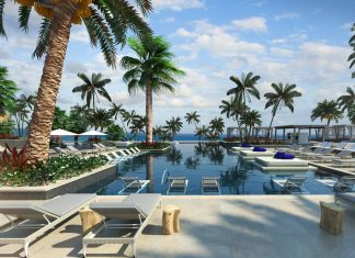 Pool views at UNICO 20˚87˚ Hotel Riviera Maya. (Photo courtesy of UNICO 20˚87˚ Hotel Riviera Maya.)