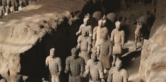 Terra Cotta Warriors in Xi'an, China.
