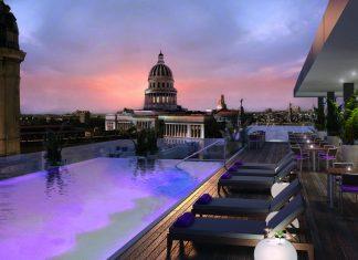 A rendering of the rooftop terrace at The Gran Hotel Kempinski Manzana La Habana in Havana, Cuba.