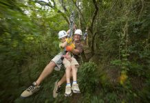 Ziplining in Antigua. (Photo credit: Antigua and Barbuda Tourism Authority)