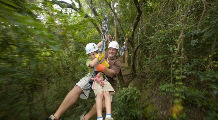 Ziplining in Antigua. (Photo credit: Antigua and Barbuda Tourism Authority)