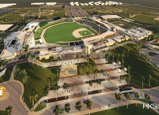 A rendering of thenew Ballpark of the Palm Beaches.