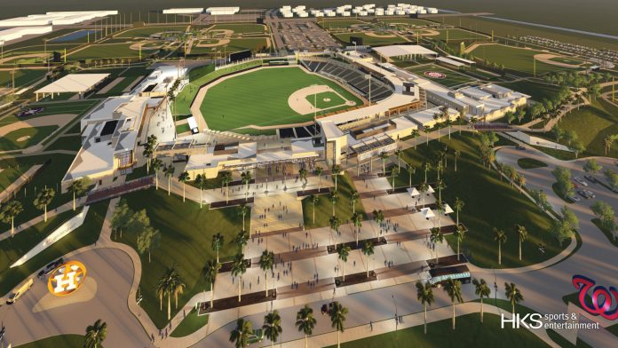 A rendering of the new Ballpark of the Palm Beaches.