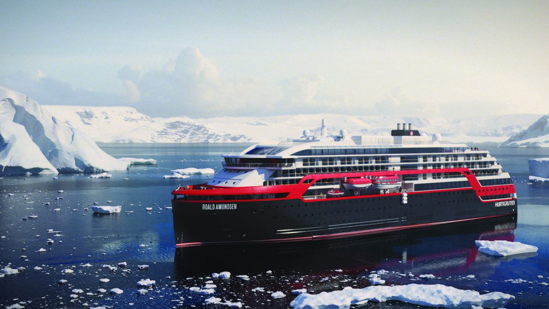 Hurtigruten's Roald Amundsen will debut in 2018.