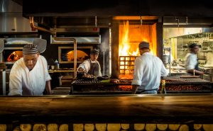 The open fire grill at Quinto La Huella.