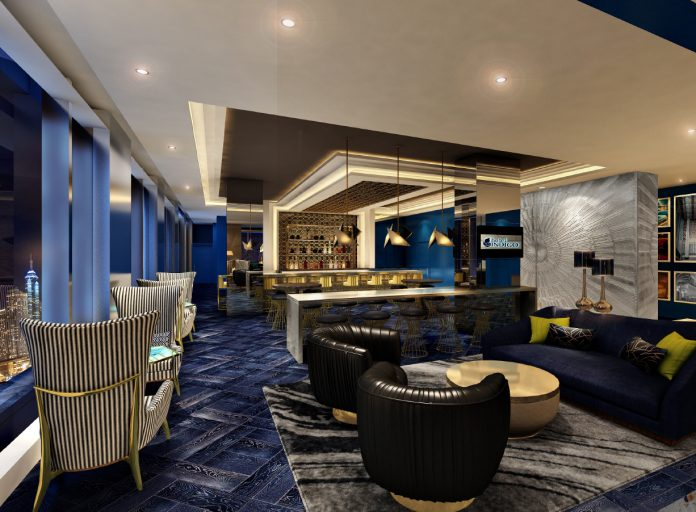 Amenities at the new Hotel Indigo Los Angeles Downtown in California include a sky bar.