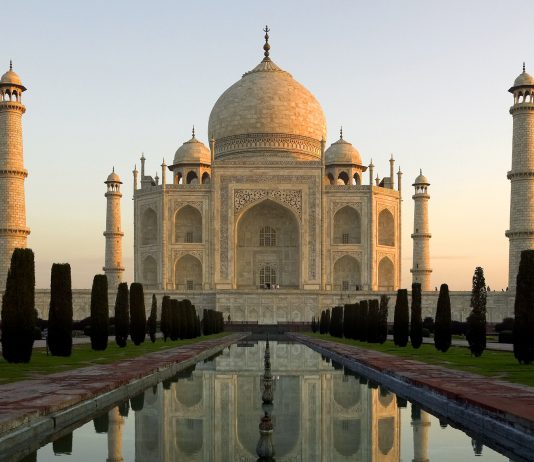 On The Go Tours' ultimate bucket list tour that takes travelers to each of the New Seven Wonders of the World, including the Taj Mahal in Agra.
