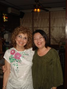 Peggy and Lek, the Thai guide.
