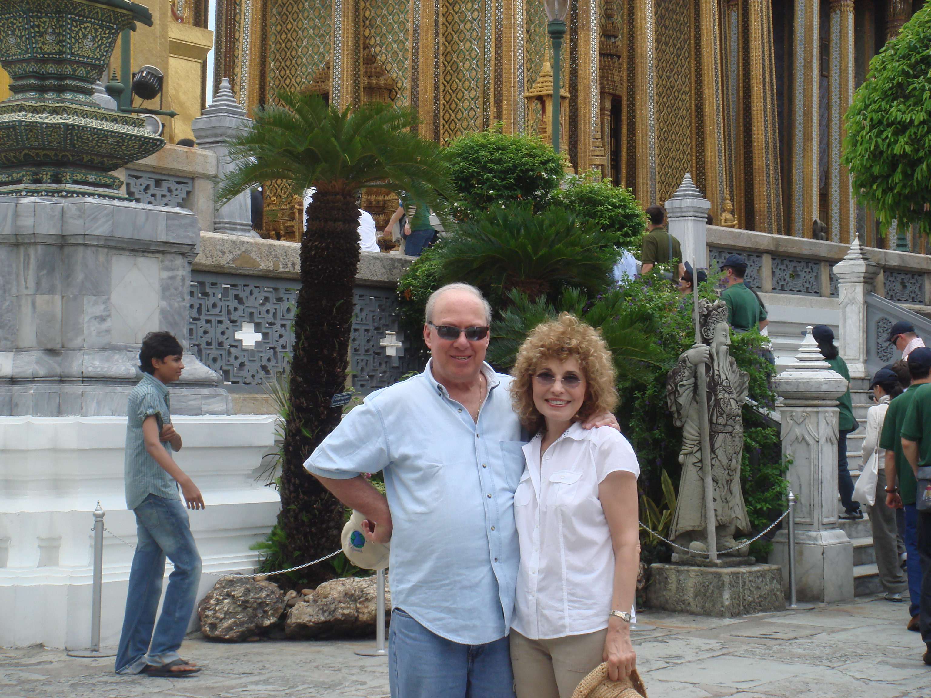 Peggy & husband Ilan in Thailand.
