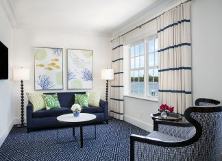 A suite at the newOceans Edge Key West Hotel & Marina.