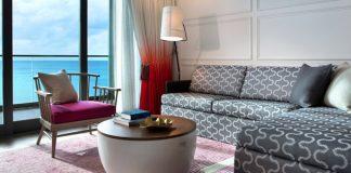 Aguestroomat the Kimpton Seafire Resort + Spa in Grand Cayman.