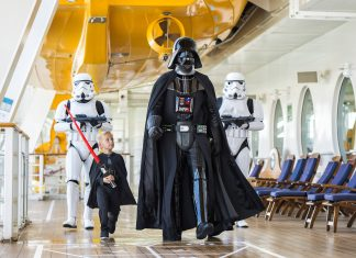 "Disney Cruise Line'spopular ""Star Wars"" Day at Sea will return with 15 specialDisney Fantasysailings next year."
