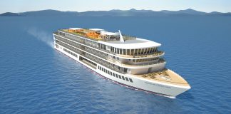 A rendering of American Cruise Line's first modern river boat.