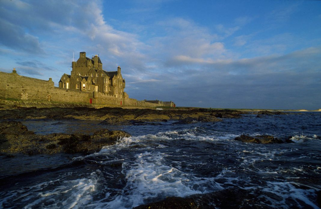 Ackergill Tower Hotel is a luxury historic hotel that sits on the shoreline of Sinclair Bay in the Scottish Highlands. (Photo credit: Visit Scotland/Paul Tomkins)