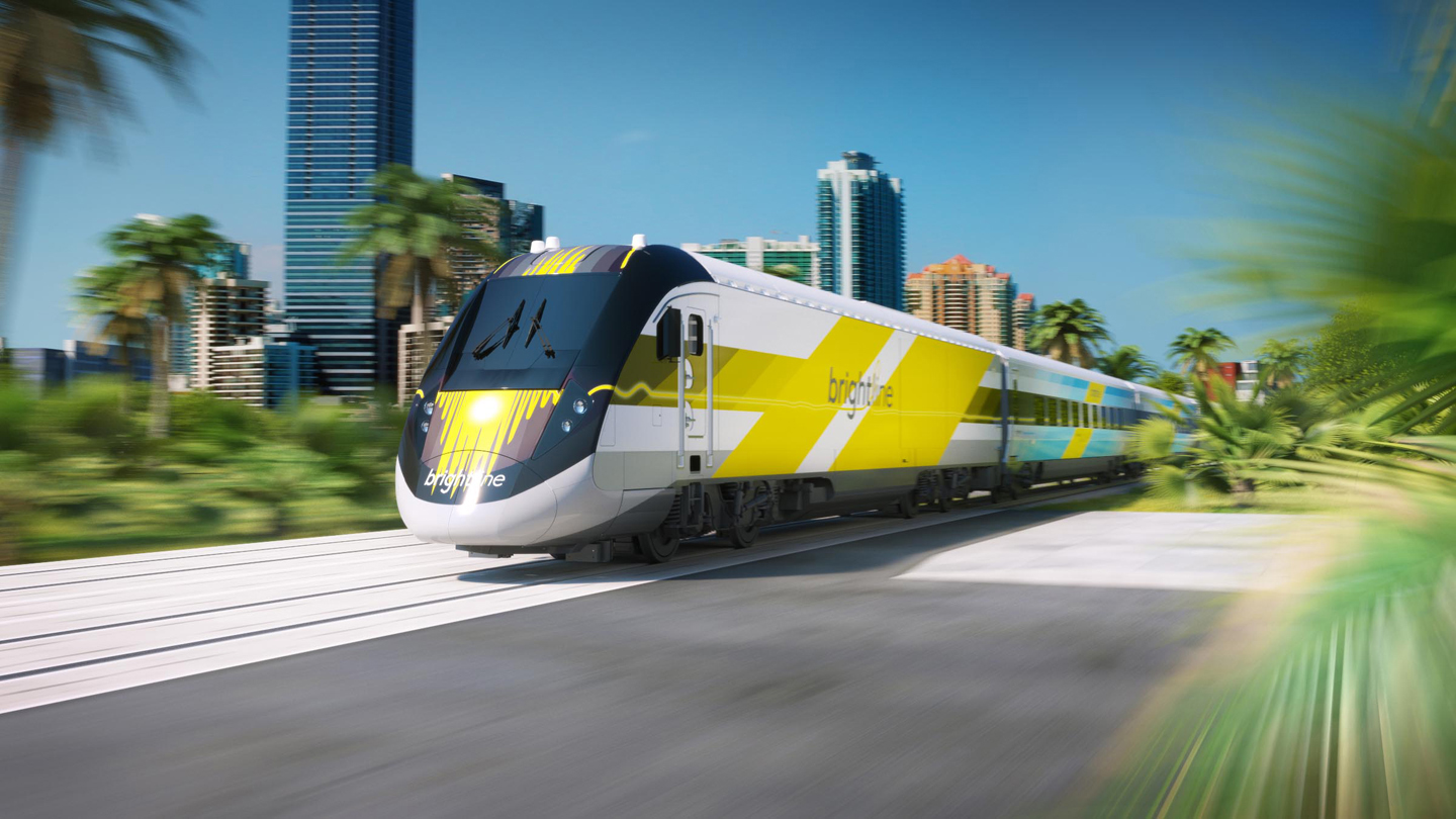 Brightline's BrightBlue service connecting West Palm Beach to Miami begins later this year. Photo credit: Discover The Palm Beaches)