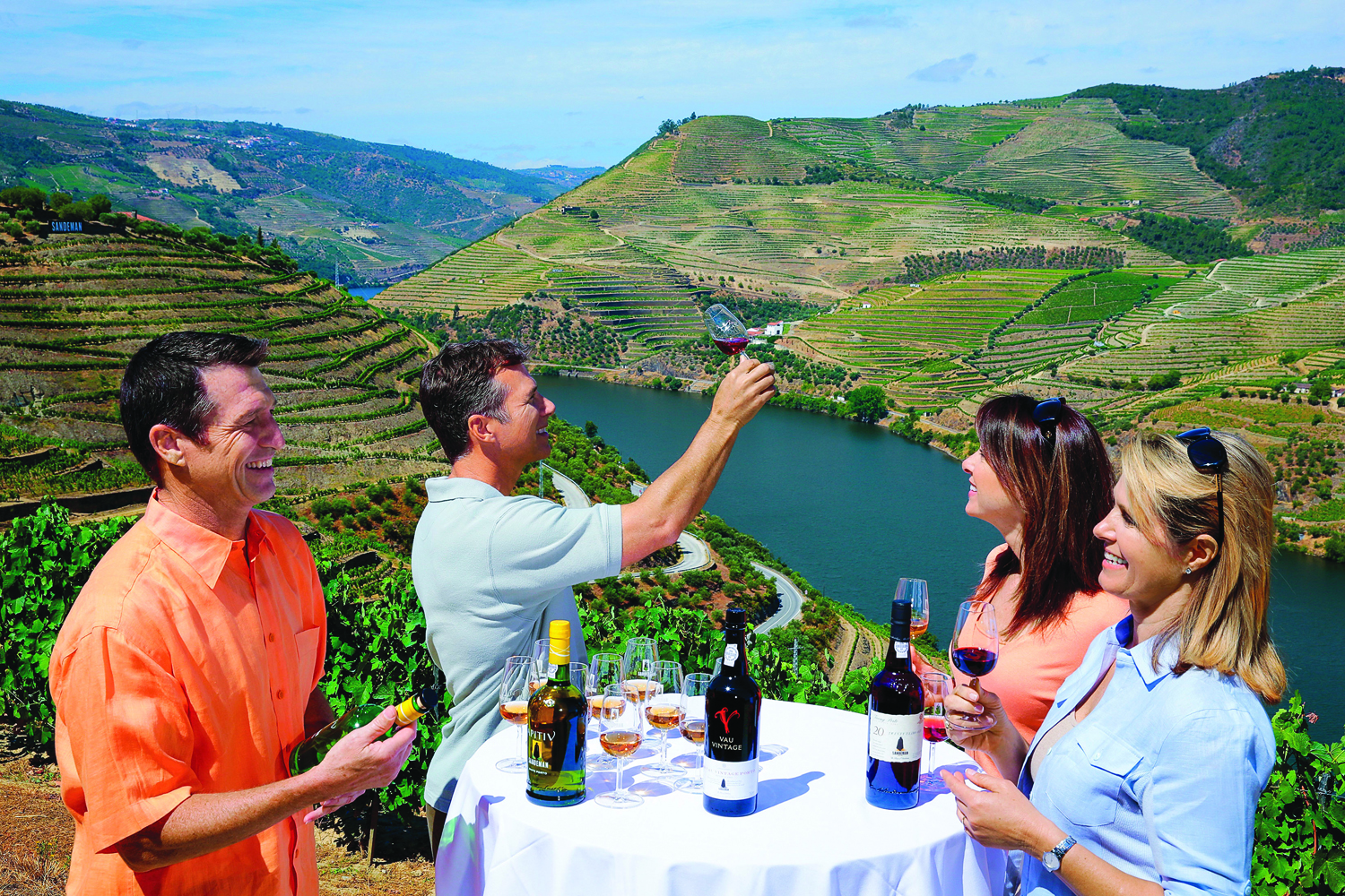 While sailing on AmaVida in Portugal, guests can go on visits to vineyards.