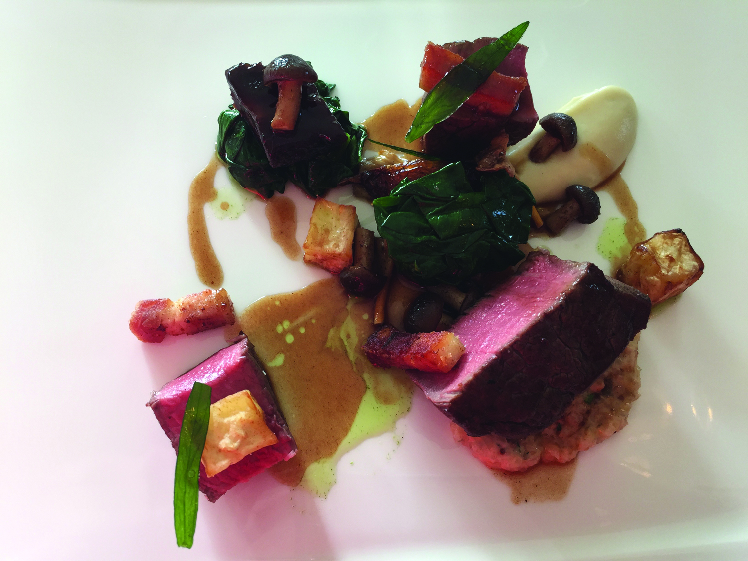 Devon beef fillet at Lympstone Manor. (Michelle Arean)