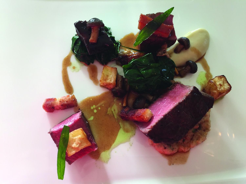 Devon beef fillet at Lympstone Manor. (Michelle Arean)