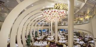 Fun fact: The Dining Rom restaurant on the ms Koningsdam is shaped the inside of a violin.