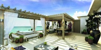 A rendering of the Presidential Suite's outdoor terrace at Le Blanc Spa Resort Los Cabos.