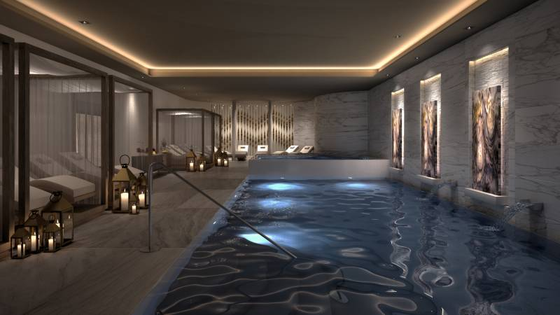 A rendering of the spa at Le Blanc Spa Resort Los Cabos.