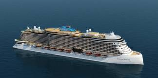 A rendering of project 8651, one of four new ships in Norwegian Cruise Line Holdings Ltd.'s next generation of ships.