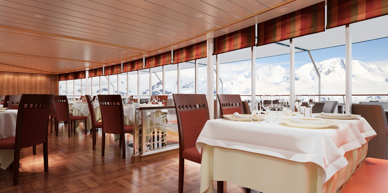 A rendering of the refurbishedLa Terrazza restaurant.