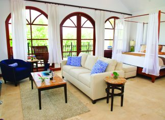 Suite accommodations at the newly opened Naia Resort and Spa in Belize.