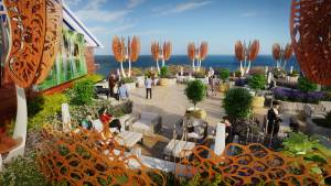 The Rooftop Garden on the Celebrity Edge.