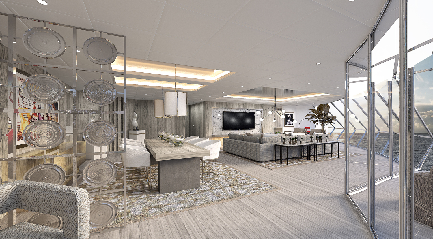 The Celebrity Edge will include the Iconic Suite, a new Edge-exclusive Suite Class category and the highest level of suites available on the ship.