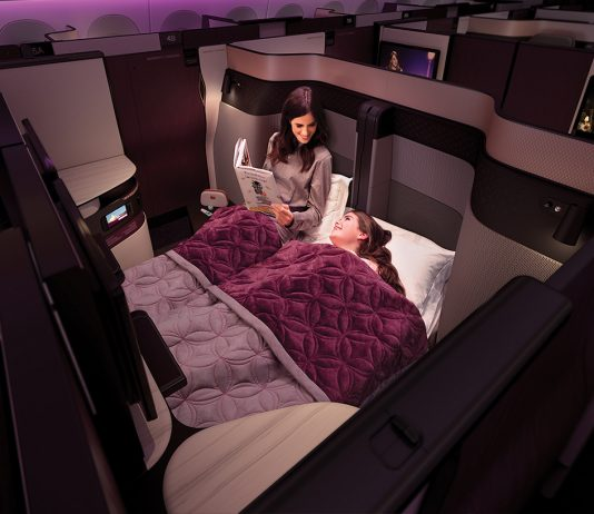 Qatar Airways' new Business Class QSuite features unique family-suite offerings.