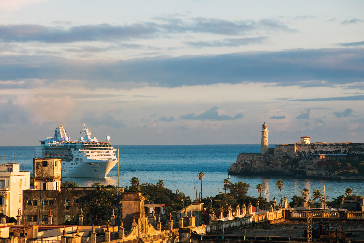 Taking a cruise—both ocean-going and on the rivers—is one of the most popular ways to vacation, according to the survey, and Cuba is a top international destination. (Photo credit: Royal Caribbean International)