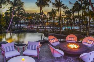 The Hilton Aruba's outdoor pool.