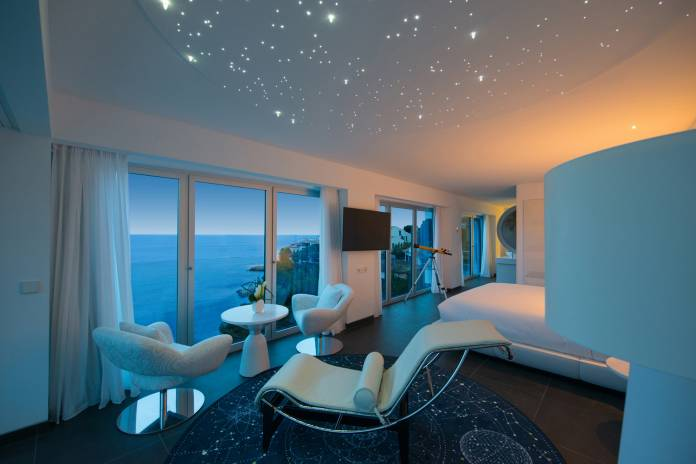 Iberostar Grand Hotel Portals Nous features 66 guestrooms, including special themed suites, such as this Stargazer Suite.