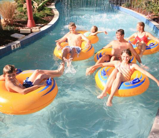 Hammock Beach Resort in Palm Coast, Florida features a 6.5-acre multi-level water complex.
