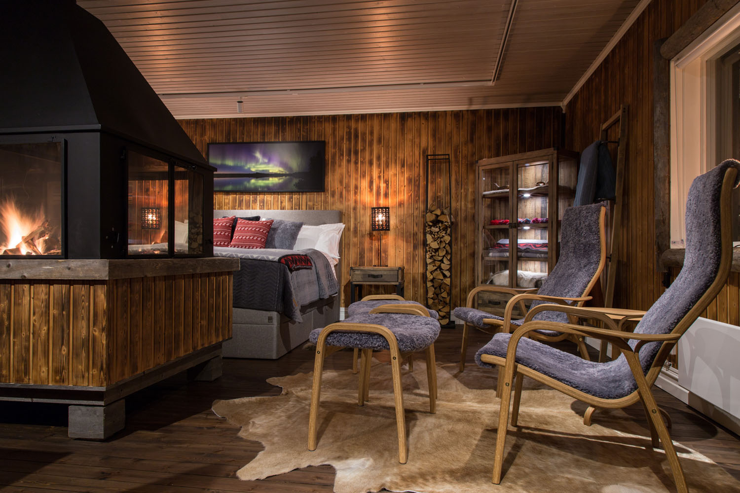 Loggers Lodge's amenities include a king-size continental bed sleeping two people.