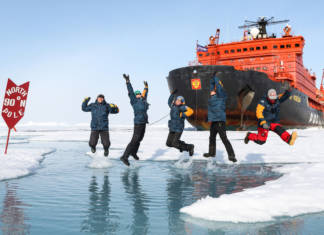 Guests of Poseidon Expeditions' 2018 North Pole-bound voyages can take advantage ofearly bird savings. (Photo credit: Lauren Farmer)