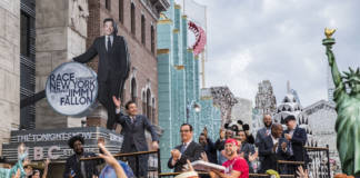 Jimmy Fallon at the grand opening of the new Race Through New York Starring Jimmy Fallon ride at Universal Studios Florida.