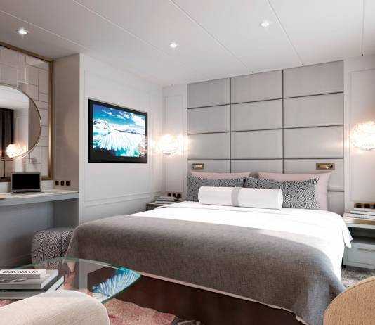 A rendering of aSeabreeze Penthouse Suite.