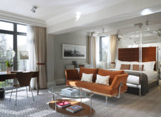 The suites at the Athenaeum Hotel & Residences in London feature king-size beds and spacious living areas.