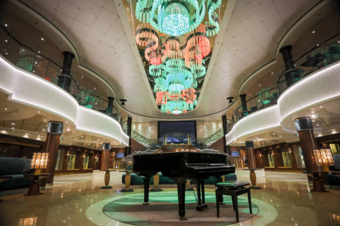 The Atrium on Norwegian Jade has been enhanced with a refreshed look and décor.