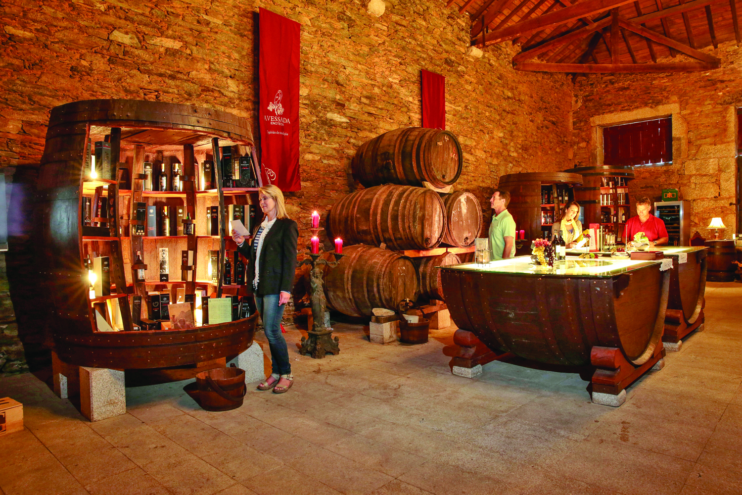 InPinhao, Portugal, guests can visit a wine cellar.