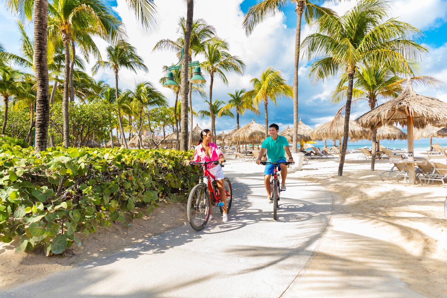 The Hilton Aruba offers complimentary bike rentals and tours.