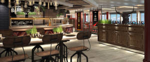 "Caribbean Princess' new Planks BBQ restaurant will offer family-style ""planks"" of loaded ribs, beef, sausages and chicken."