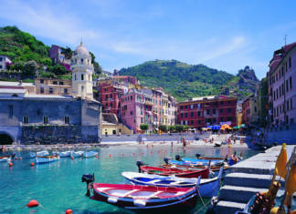 A small harbor in Vernazza, Italy—one of the five villages that make up the Cinque Terre.(Photo credit:Agenzia Regionale In Liguria/FototecaENIT)